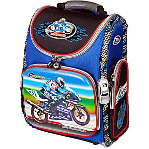 Школьный рюкзак – ранец HummingBird Motomaster K64 с мешком для обуви